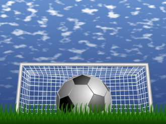 Image of a soccer ball and goal